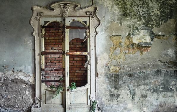 Картинка комната, стена, дверь
