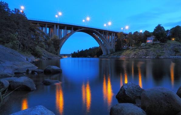 Картинка Sweden, Bridge, Nacka, Skurubron
