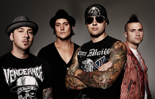 Картинка музыка, группа, A7X, Avenged Sevenfold, Zacky Vengeance, M. Shadows, Johnny Christ, Synyster Gates, hard rock, …