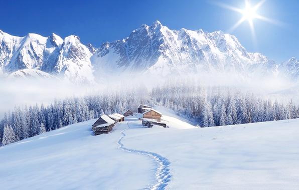Снег в горах картинки