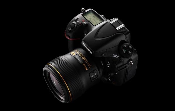 Картинка фотоаппарат, Nikon, объектив, Nikkor, D800