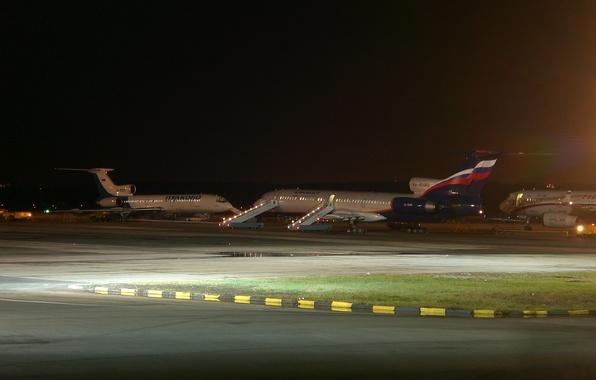 Картинка Аэропорт, Россия, Ту-154, Аэрофлот, Туполев, Пулково