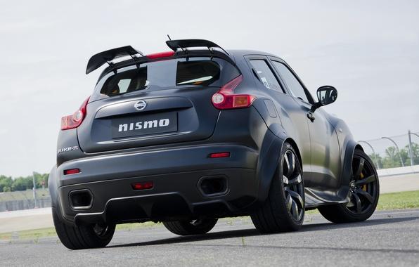 Картинка Nissan, black, track, Juke-R, Nismo
