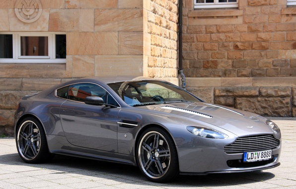 Картинка машина, Aston Martin, Vantage, астон мартин, передок, Cargraphic