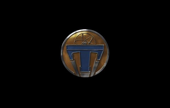 Картинка фантастика, фильм, логотип, эмблема, черный фон, Tomorrowland, Земля будущего