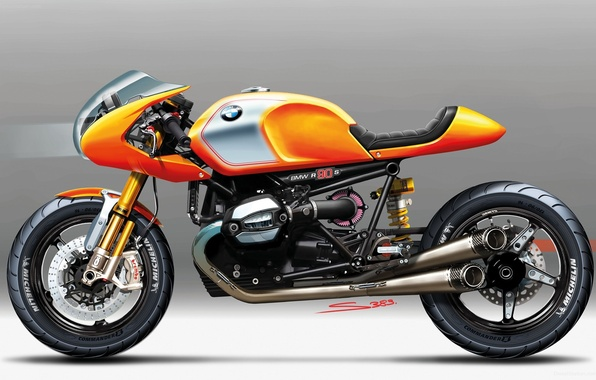 Картинка BMW, Bike, 2013, CONCEPT, NINETY