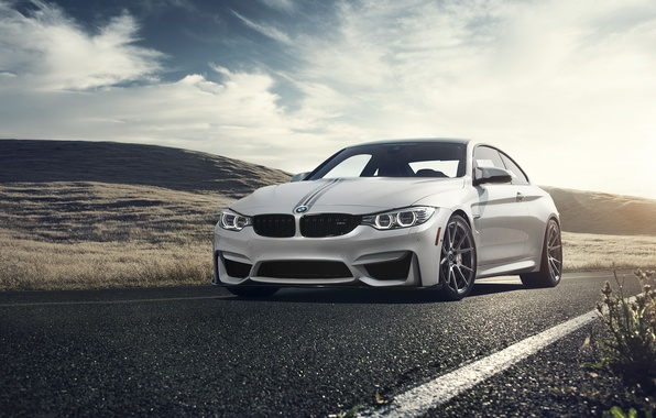 Картинка BMW, Front, Vorsteiner, White, Forged, Wheels, F82, Flow, V-FF, 106