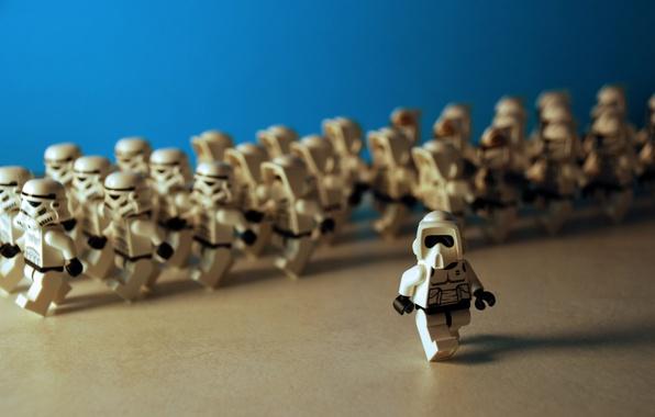 Картинка star wars, lego, империя, лего, штурмовики, troopers, марш