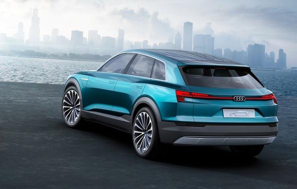 Картинка Audi, ауди, concept, концерт, e-tron, quattro, 2015