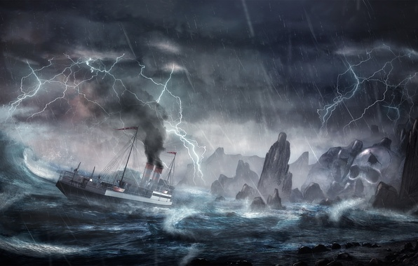 Картинки по запросу корабль шторм