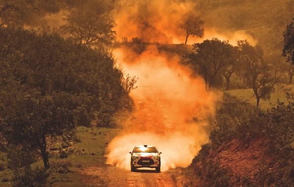 Картинка Авто, Пыль, Спорт, Машина, Скорость, Гонка, Citroen, Жара, WRC, Rally, Ралли