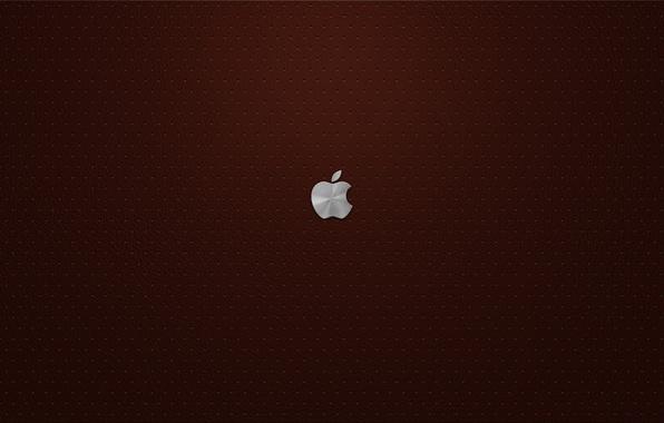 Картинка Apple, кожа, бардовый