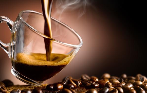 Картинка кофе, чашка, кофейные зерна, аромат, coffee, Cup, coffee beans, aroma