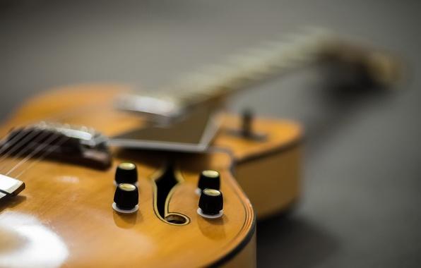 Картинка макро, музыка, фон, гитара