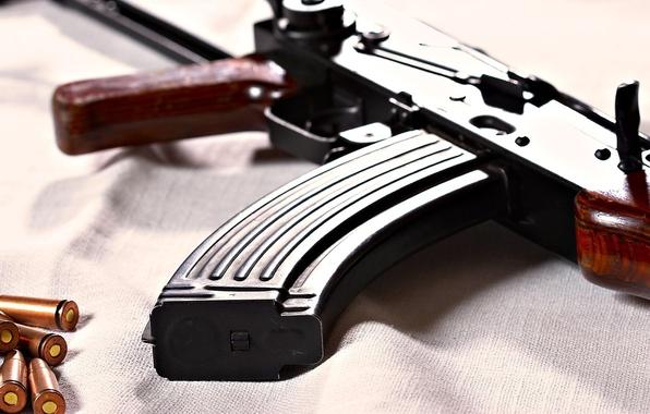 Картинка оружие, автомат, патроны, автомат калашникова