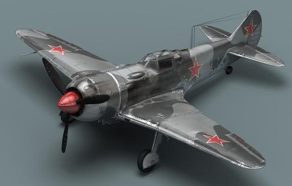 Картинка пропеллер, самолёт, Ла-7, Советский истребитель