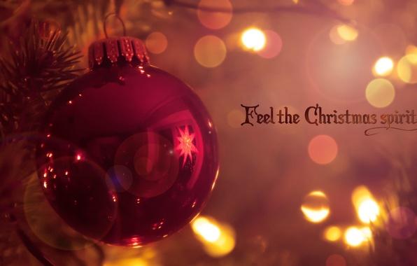 Картинка свет, отражение, праздник, надпись, краски, игрушка, рождество, colors, light, christmas, слова, toy, words, боке, bokeh, …