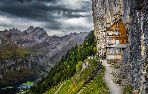 Картинка горы, Швейцария, Альпы, пансион