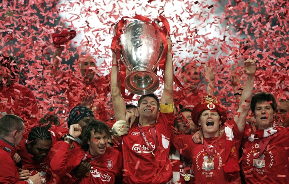 Картинка футбол, победа, Italy, cup, 2005, victory, Istanbul, captain, празднование, football wallpapers, чемпионы, celebration, Лига Чемпионов, …