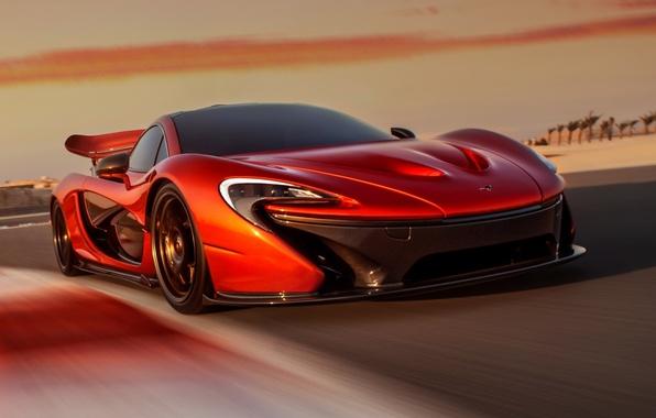 Картинка Concept, небо, оранжевый, McLaren, концепт, суперкар, передок, МакЛарен