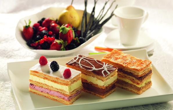 Картинка малина, еда, торт, пирожное, cake, крем, десерт, food, сладкое, strawberry, cream, dessert, blackberry, pear, raspberries, …