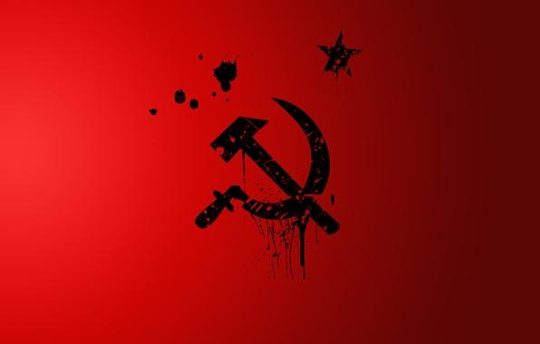 Картинка minimal, СССР, RED