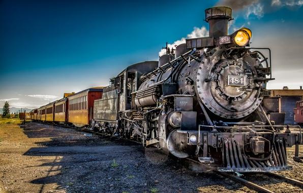 Фото обои дорога, поезд, техника