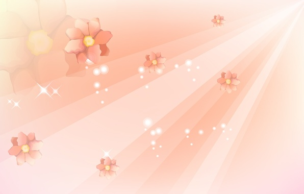 Картинка линии, цветы, абстракция, abstract, design, flowers