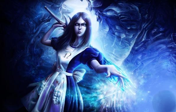 Картинка кристалл, девушка, арт, Алиса, жезл, Alice Madness Returns