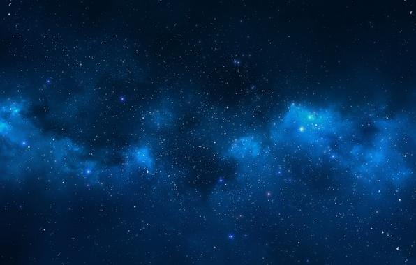 Картинка небо, звезды, пейзаж, ночь, фон, widescreen, обои, вечер, wallpaper, star, sky, широкоформатные, night, background, stars, …