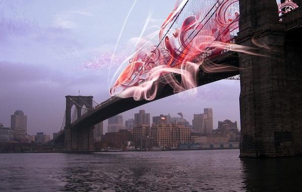 Картинка обработка, Нью-Йорк, Мост