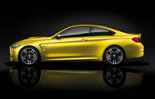 Картинка yellow, Coupe, BMW M4, BMW AG