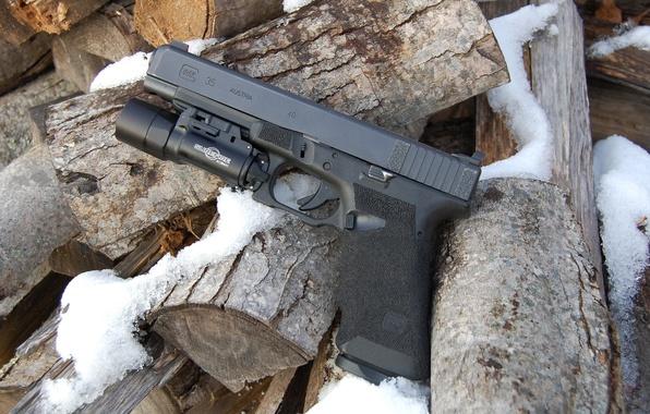 Картинка пистолет, оружие, Glock 35, самозарядный