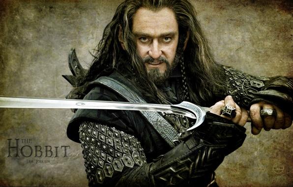 Картинка воин, мечь, Хоббит, Richard Armitage, Торин Оакеншилд, hobbit, Ричард Армитаж