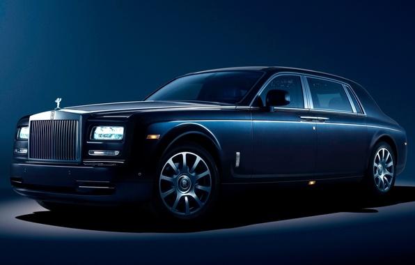 Картинка синий, Phantom, Rolls Royce