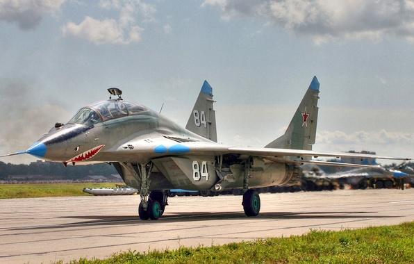 Картинка Fulcrum, ОКБ МиГ, 120 гв.иап, учебно-боевой истребитель, МиГ-29УБ