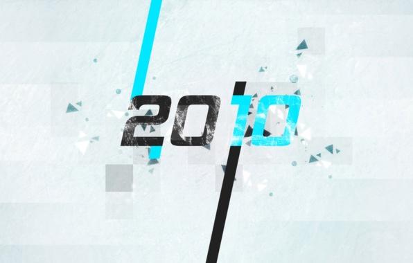 Картинка частицы, серый, голубой, черный, новый год, 2010