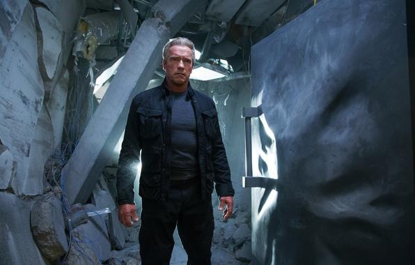 Картинка фантастика, Арнольд Шварценеггер, Terminator, Arnold Schwarzenegger, Terminator: Genisys, Терминатор: Генезис