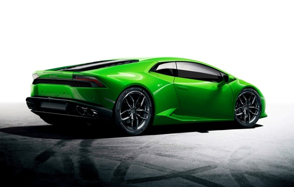 Картинка Зеленый, Car, Автомобиль, Green, Wallpaper, Ламборгини, Уракан, LP610-4, Lamborghini Huracan, Sport car