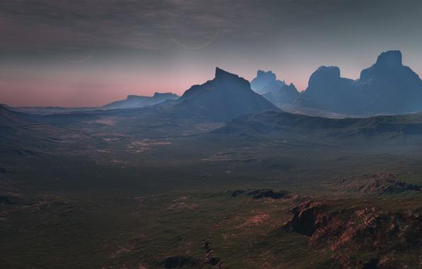 Картинка горы, скалы, долина, cardassia prime countryside