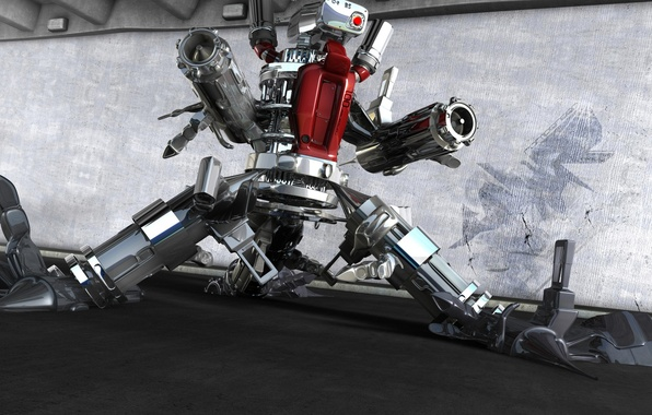 Робот оружие 3d обои фото картинки