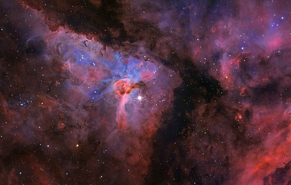 Картинка космос, пространство, звёзды, созвездие, Туманность Киля, мироздание, NGC3372