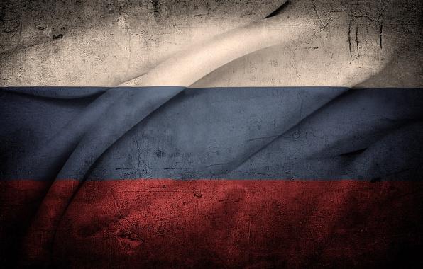 Картинка белый, синий, красный, текстура, флаг, Россия