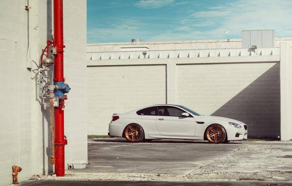 Картинка BMW, Car, White, Side, Wheels, ADV.1