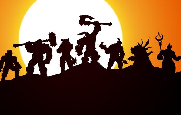 Картинка орки, wow, world of warcraft, ork, Орда, warchief, Grom Hellscream, Horde, Гром адский крик, Громмаш, …