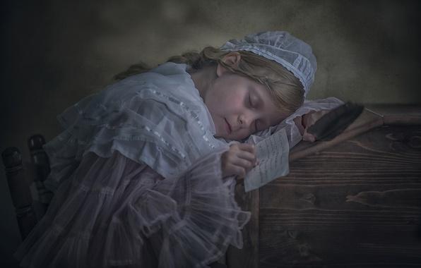 Картинка письмо, сон, ситуация, девочка, винтаж, спящая девочка