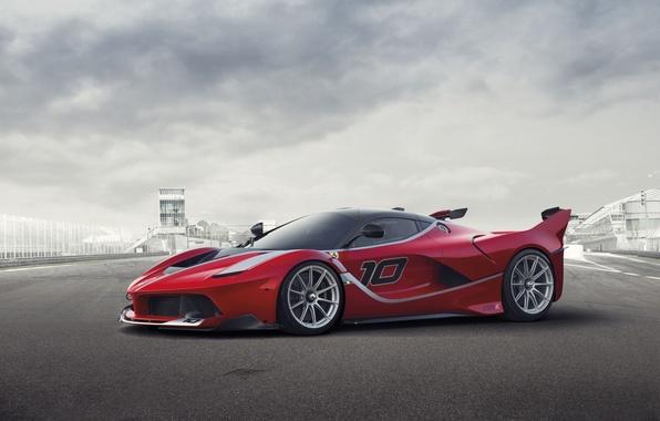 Картинка фон, Феррари, Ferrari, суперкар, передок, FXX K