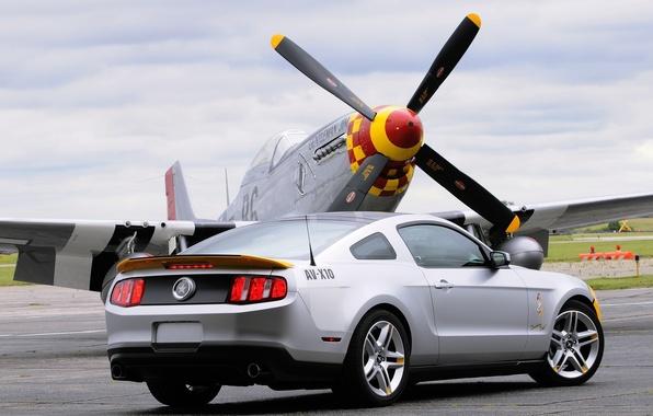 Картинка самолет, Mustang, Ford, AV-X10, пропеллер