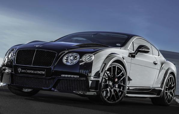 Картинка Bentley, Continental, Front, Black, Tuning, ONYX
