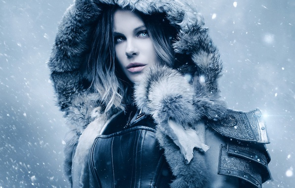Картинка cinema, Kate Beckinsale, wallpaper, girl, Underworld, armor, woman, blue eyes, snow, movie, vampire, hero, film, …